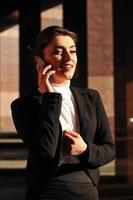 Mobile speaking woman