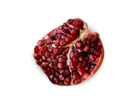 Red pomegranate. Isolated on white background
