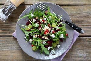 Salad with beets and cheese