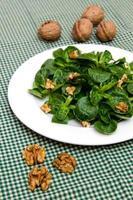 Walnuts and corn lettuce