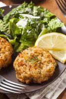 Organic Homemade Crab Cakes photo