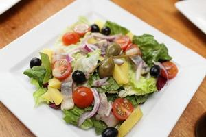 Vegetable salad with herring
