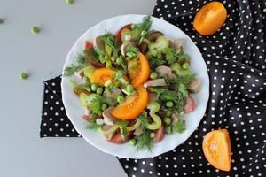 salad with lamb tongue, tomatoes, and balsamic vinegar