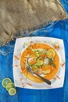 ensalada de rábano y pepino foto