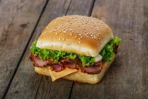 square sandwich with ham and cheese photo