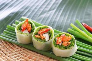 verse Chinese traditionele loempia's eten