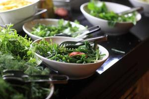 Plates with greens