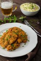 Schnitzel with herbs, photo