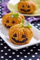 Pumpkin Rice Ball Jack O Lanterns