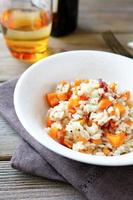 Rice with peppers and carrots photo