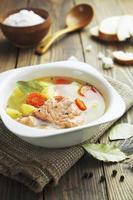 Salmon soup photo