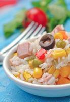 Rice salad portion