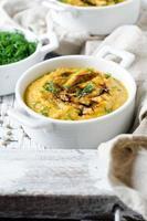 Pumpkin cream soup with lentils
