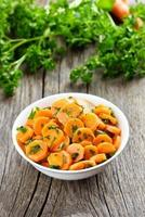 Vegetable salad from carrot