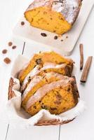 Pumpkin loaf slices
