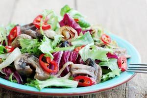 salada de vegetais quente