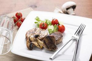 grilled meats and vegetables photo