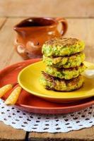 Zucchini fried cakes photo