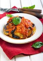 Aubergines and courgettes photo