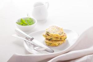 Zucchini fritters photo