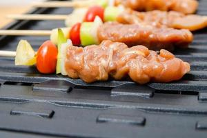Closeup grilling barbecue photo