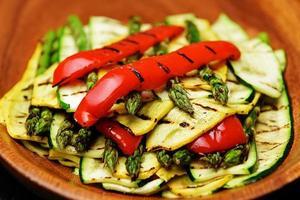 Platter of grilled vegetables photo