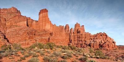 Fisher Towers rock formation photo