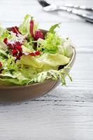 Crispy salad in a bowl photo