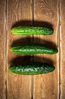 Fresh cucumbers photo