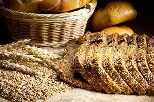 Wheat, corn and bread