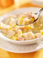 spoonful of corn chowder