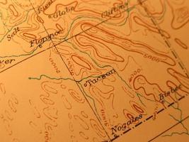 Antique map, Tucson Arizona photo