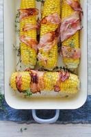Baked corn with bacon photo
