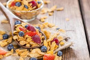 Portion of Cornflakes with Berries