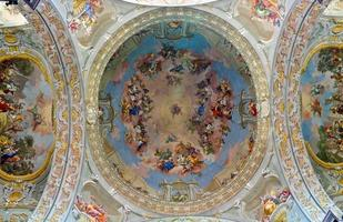 ornate ceiling fresco painting