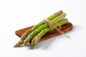 Bundle of fresh asparagus photo