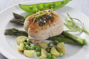 roast veal roulade with vegetable photo