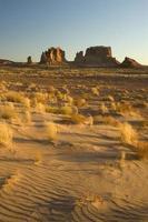 dune di sabbia e mesas, deserto dell'utah