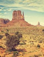 retro oude filmstijlfoto van monument valley, de vs.