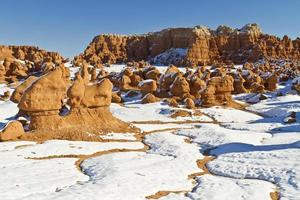 Goblin Valley Snow Rivulets photo