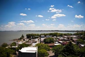 Aerial View of Colonia Del Sacramento's Historical Centre in Uruguay
