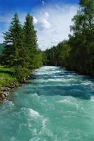 Mountain river photo