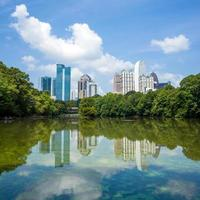 Skyline and reflections of midtown Atlanta, Georgia photo