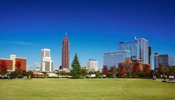 Park and skyline. Atlanta, GA.
