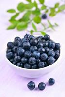 Blueberries in bowl photo
