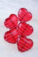 Glass hearts photo