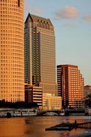 tampa skyline - zonsondergang op moderne skyscrapes