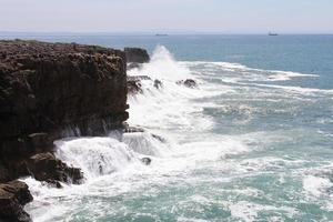 Cliff and Sea, Cascais, Lisbon, Portugal