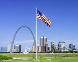 Unique view of St. Louis city skyline photo