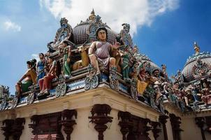 roof of Sri Mariamman Temple Singapore